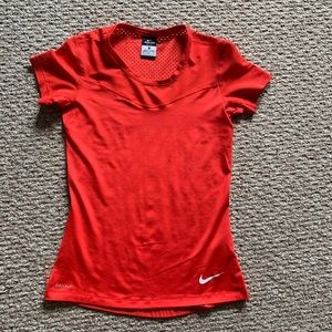 Nike Dri-Fit Red Fitted Shirt